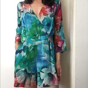 Yumi Kim Floral Print Silk Romper